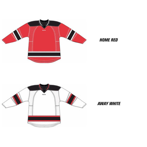 New Jersey Devils Reebok Edge Uncrested Hockey Jersey Junior