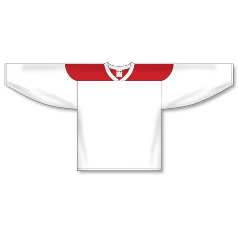 Athletic Knit Custom White/Red 6100 Jersey