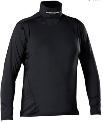 Winnwell 2019 Base Layer Youth Top with Built-In Neck Guard