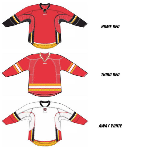 Calgary Flames Reebok Edge Uncrested Hockey Jersey - Discount Hockey