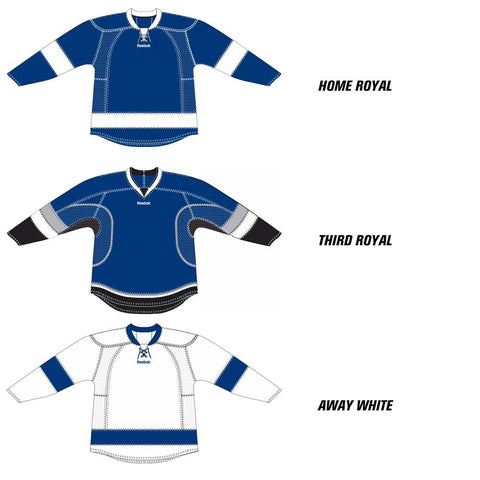 Tampa Bay Lightning Reebok Edge Uncrested Hockey Jersey