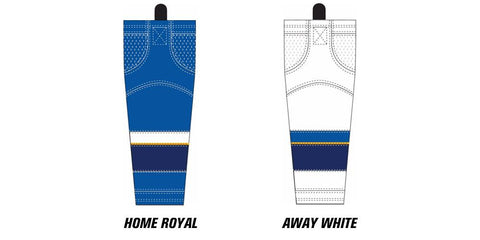 Reebok Edge SX100 St. Louis Blues Mesh Socks (2008 - 2014) Intermediate