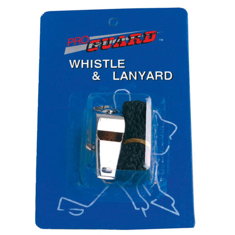 Pro Guard Metal Whistle With Lanyard