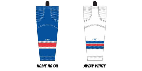 Reebok Edge SX100 New York Rangers Mesh Socks Intermediate
