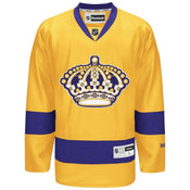 Reebok Los Angeles Kings Premier Crested Vintage Yellow Jersey