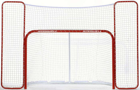 "Winnwell Pro Form 72"" Regulation Hockey Net with QuikNet Mesh System and Backstop"