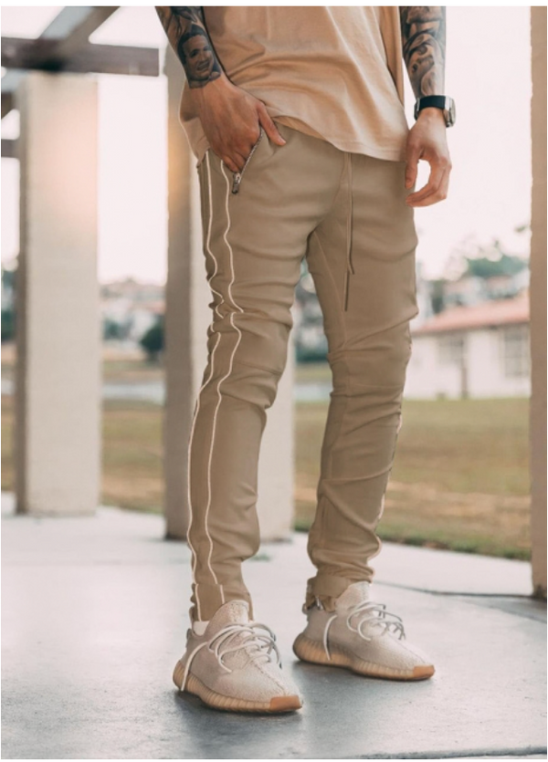 Premium Beige Reflective Trackpants