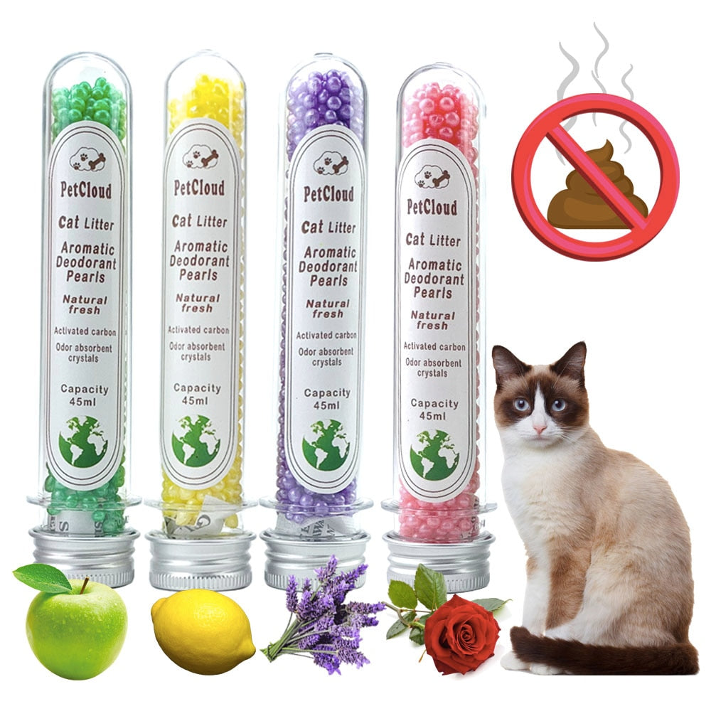 Aromatic Cat Litter Deodorant Beads - Odor activated