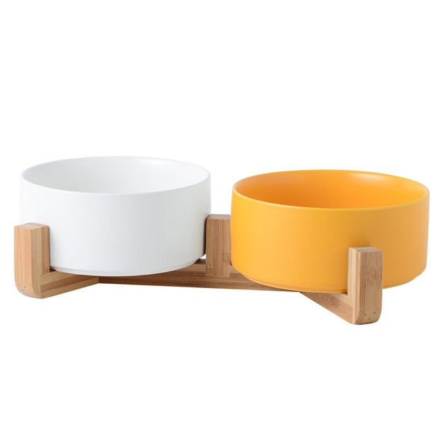Ceramic Double Pet Bowl