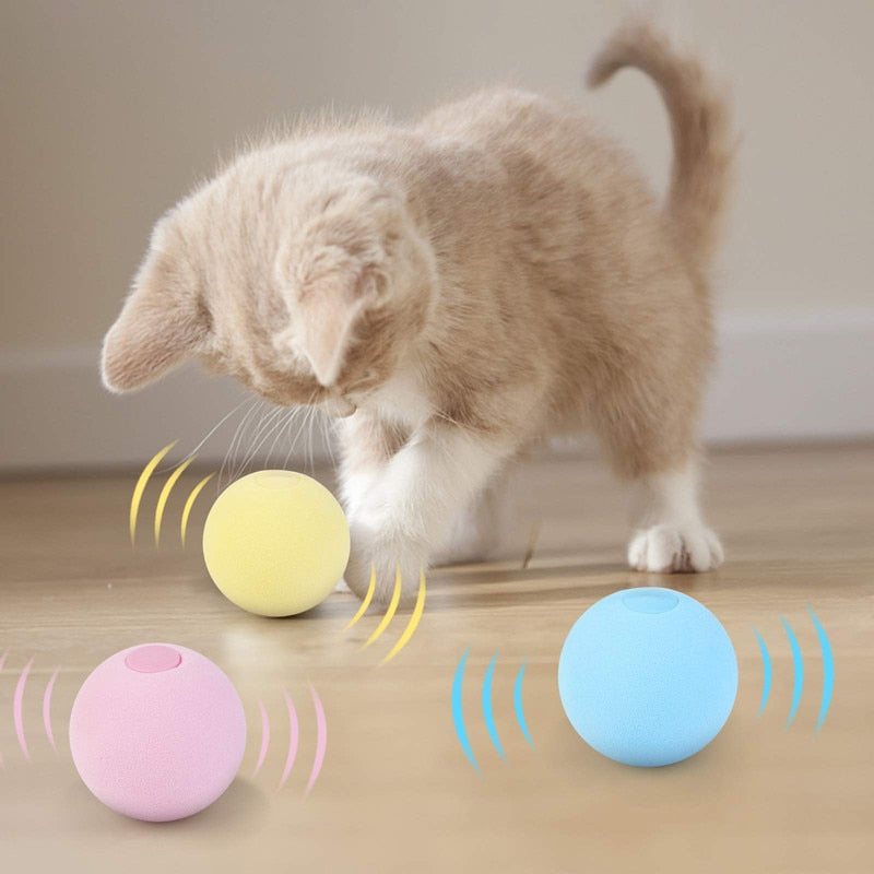 Smart Kitty Squeak Ball w/ Catnip