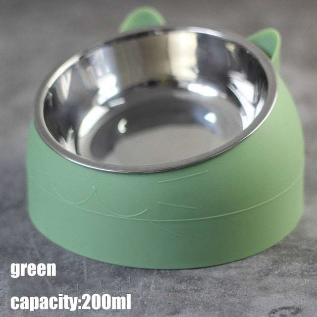 Pet Tilted Bowl - Stainless Steel