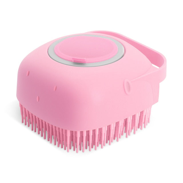 Pet Shampoo and Massage Brush