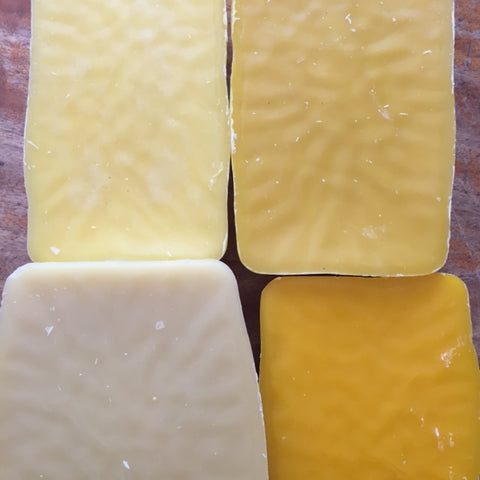 Different colours of beeswax