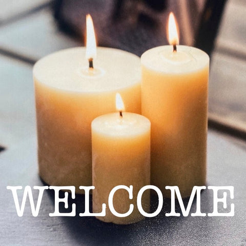 Welcome to Happy Flame beeswax candle