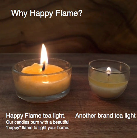 Why happy flame- bright candle light