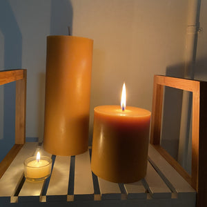 """Reflection"" candle- our biggest & longest burning candles Happy Flame"