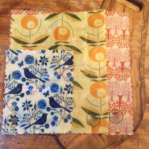 "Happy Flame Beeswax food wraps- the safer ""cling wrap""- Australian made bee wraps!"