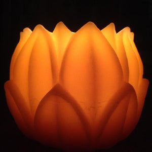 Happy Flame Beeswax Lanterns luminaries Beeswax Large lotus/ water lilly lantern
