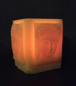 Happy Flame Beeswax Lanterns luminaries Buddha beeswax lantern- rectangle
