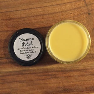 Happy Flame Beeswax polish for timber and leather
