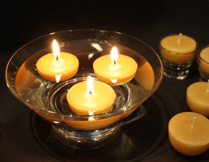 Happy Flame Beeswax Tea lights 9 hour tea light Australian Certified Organic beeswax. Happy Lights