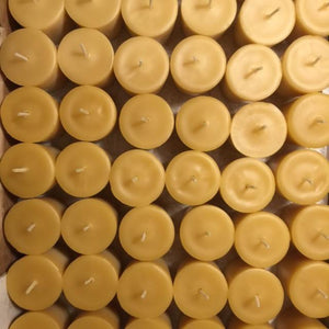 Happy Flame Beeswax Votives 20 x Votives beeswax candles +1 x glass holder : $92.00 12 hour votive made from certified organic beeswax