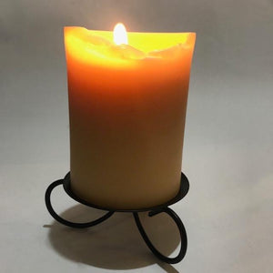 Happy Flame candle holder Black metal candle holder with spike