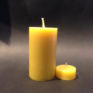 Happy Flame certified organic Family pack- Certified Organic beeswax. 176 hours of candle light