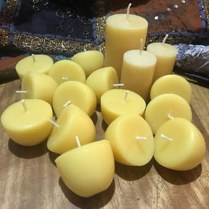 Happy Flame certified organic Refill for family pack- Certified Organic beeswax. 176 hours of candle light