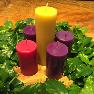 Happy Flame Christmas Advent Beeswax Candles