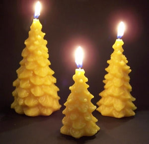 Happy Flame Christmas Christmas Tree Candles from Beeswax