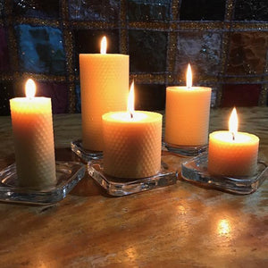"Happy Flame Honeycomb beeswax candles Honeycomb ""Spirit"" candles made from Australian Certified Organic Beeswax"