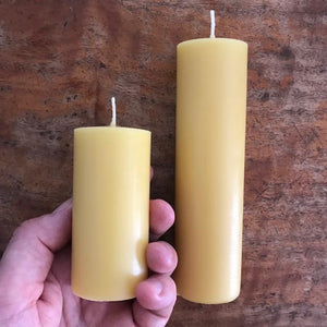 "Happy Flame Long burning Solid candle ""Byron Light"" candle-made from Australian Certified Organic beeswax"