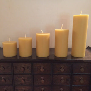 "Happy Flame Long burning Solid candle ""Spirit of Byron Bay""  candles made from Australian certified organic beeswax"