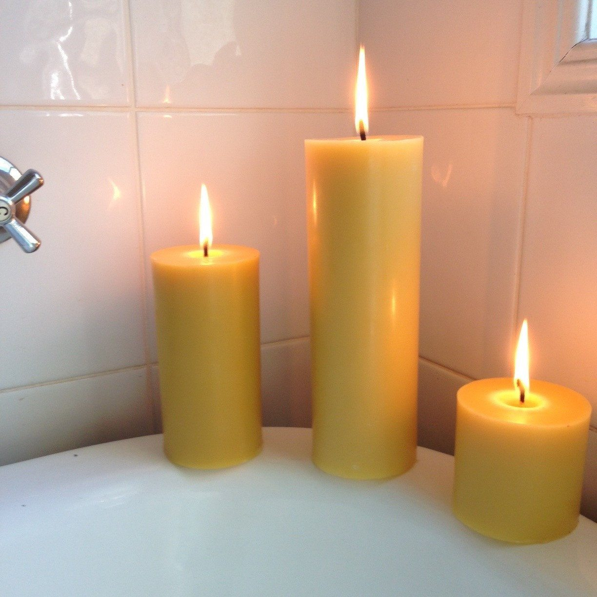 Happy flame long burning solid candle spirit of byron bay candles made from australian