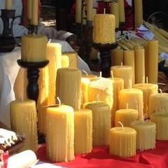 Happy Flame Pre-dripped beeswax candles that don't drip.
