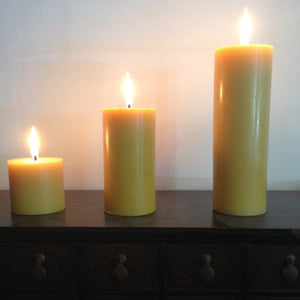 "Happy Flame Special candle packs Certified Organic ""Turn-off-the-lights pack"": 360 hours of beeswax candle light"