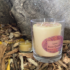 Happy Flame Well Being -Crystal candles