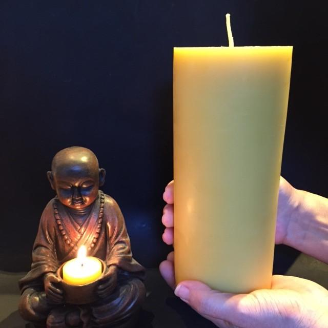Beeswax candles at home