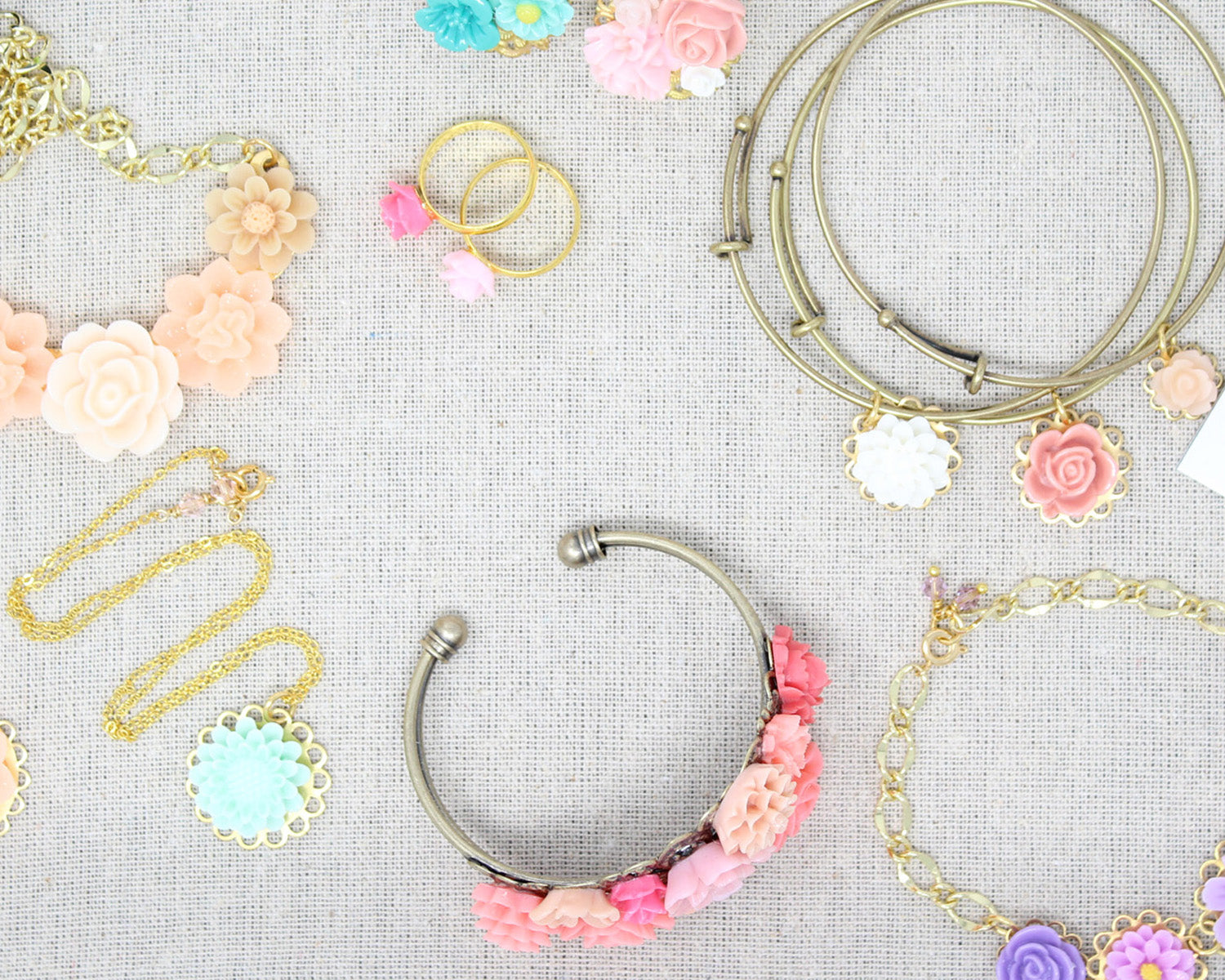 Sunlit Blooms Floral Jewelry