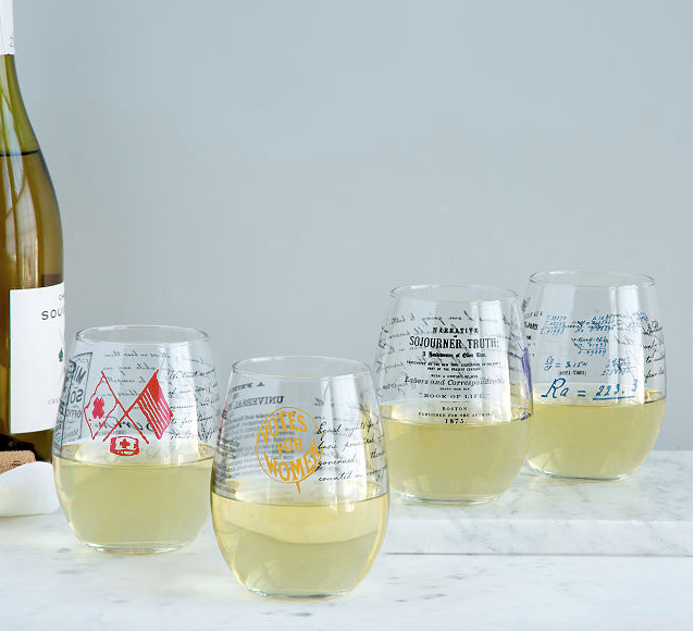 historic women who dared wine glasses by uncommon goods