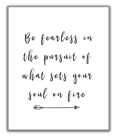 fearless quote print on amazon handmade