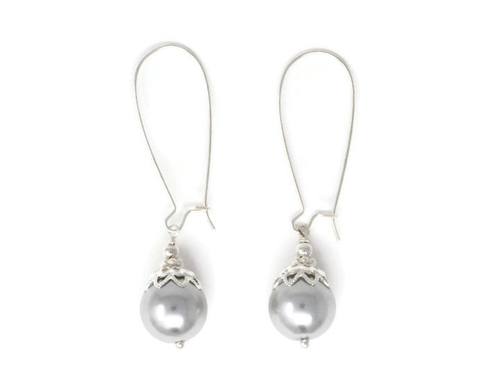12mm Silver Christmas Ball Earrings