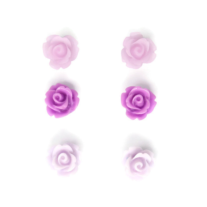 Bloom Stud Set in Lavender Purple Posy