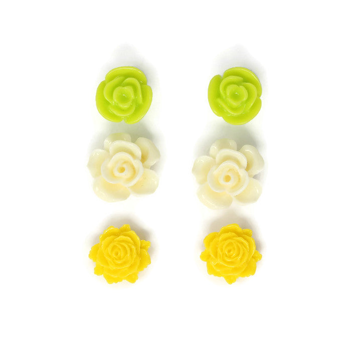 Bloom Stud Set ~ Lemon Lime