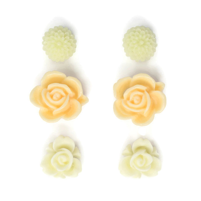 Bloom Stud Set ~ Scotch Butter