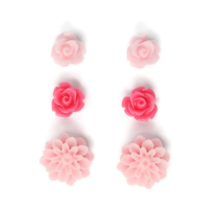 Bloom Stud Set ~ Shades of Pink
