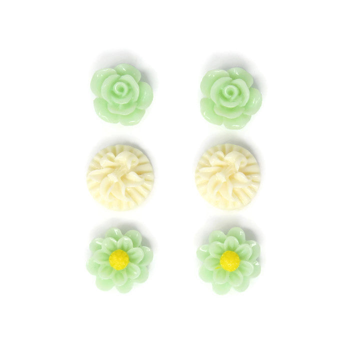 Bloom Stud Set ~ Vanilla Mint