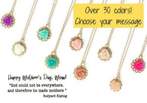 Mother's Day Flower Necklace