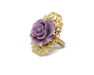 Ring Bouquet in Heather Purple Rose